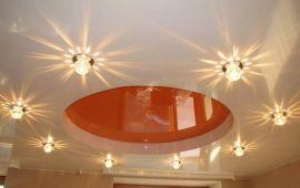Правила установки светильников в натяжной потолок