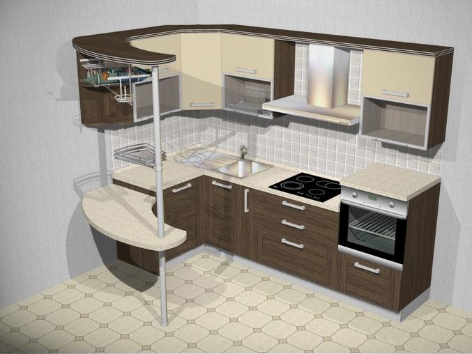 Дизайн кухни с барной стойкой 10 кв м