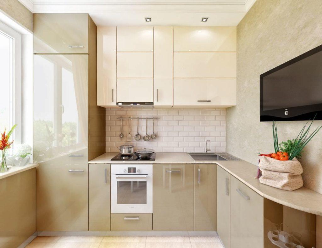 Кухня 55 метров с холодильником дизайн