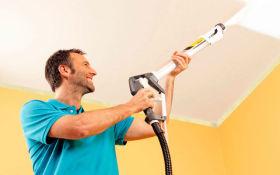 Технология правильной побелки потолка в квартире