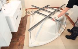 Способы установки акриловой ванны своими руками