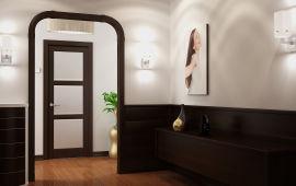 Оформление красивой арки в коридоре