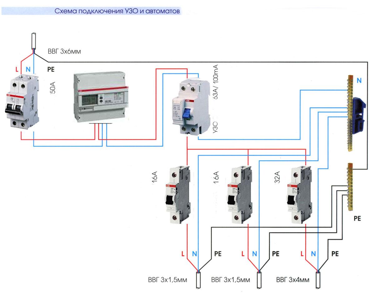 Подключение УЗО по схеме TN-C-S