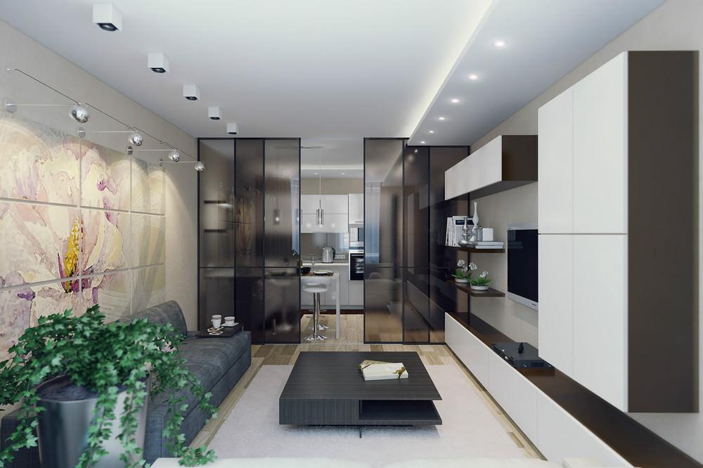 Идея зонирования гостиной