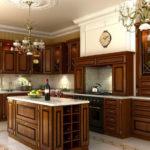 Классическая кухня темного цвета