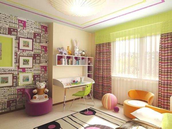 Комбинированная детская комната