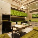 Зеленый цвет в современной кухне