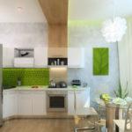 Дизайн светлой современной кухни