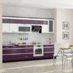 Современная кухня фиолетового цвета