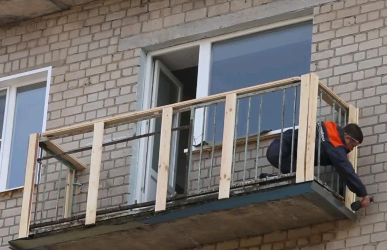 Установка обрешетки для сайдинга на балконе