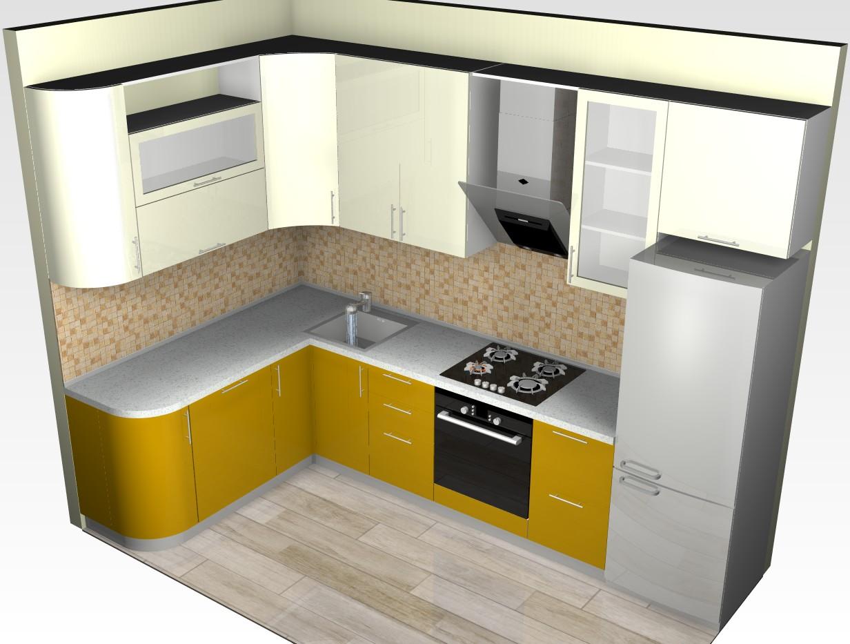3D модель маленькой кухни