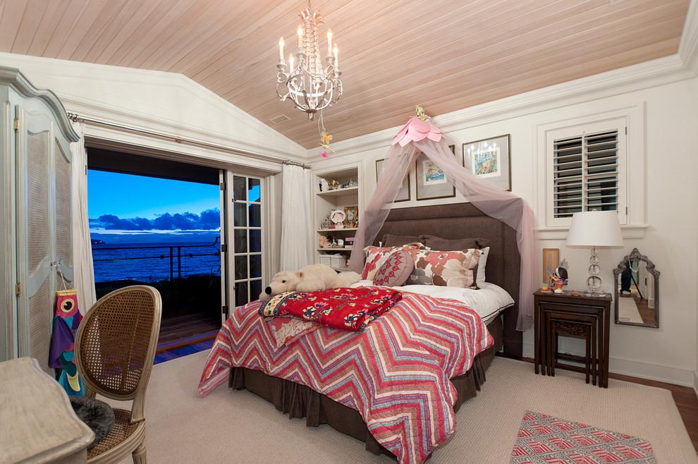 Деревянный реечный потолок в детской