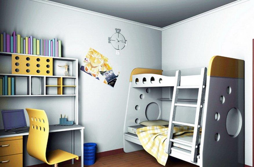 Дизайн детской в стиле хай-тек