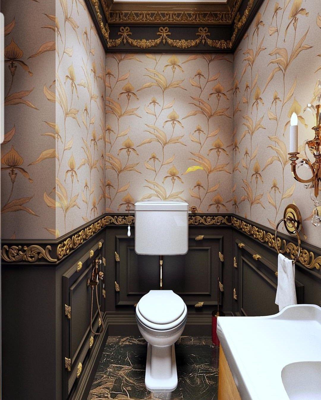 Дизайнерская отделка туалета