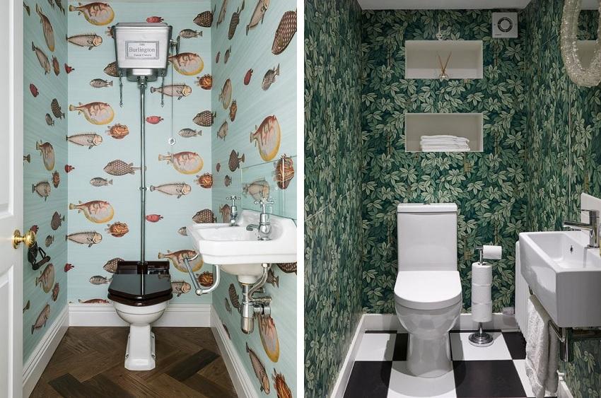 Флизелиновые обои в туалете