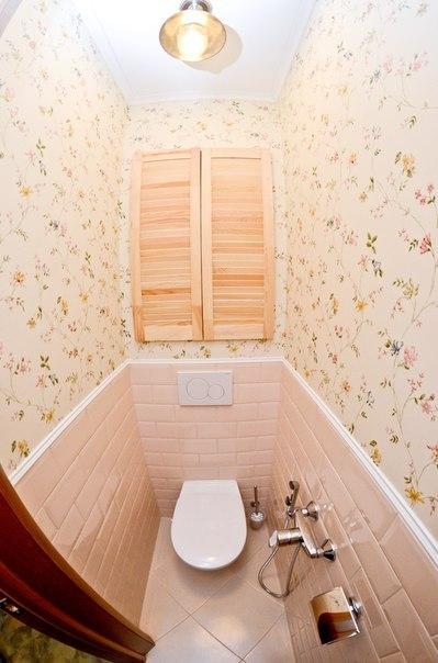 Комбинированная отделка туалета