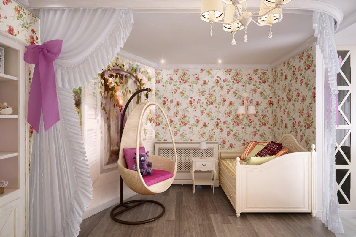 Стиль прованс в комнате для девочки