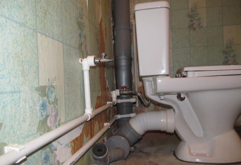 Замена труб в туалете