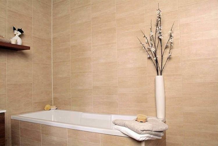 Ванная комната отделанная пластиковыми панелями