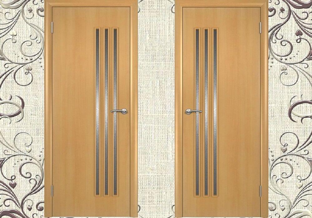 Деревянные двери для ванной и туалета