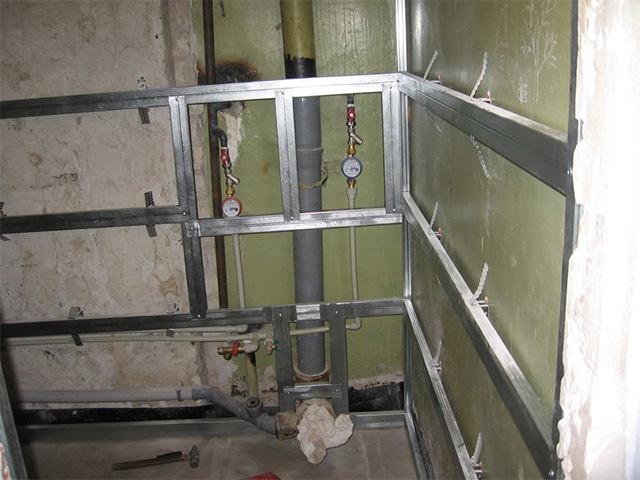 Каркас для монтажа ПВХ панелей в ванной