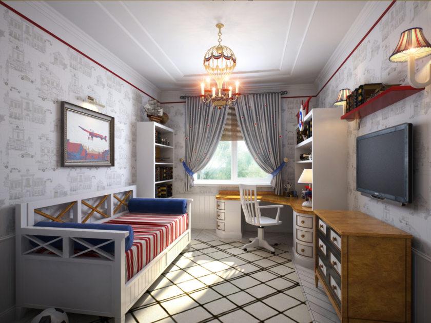 Комната для мальчика в классическом стиле