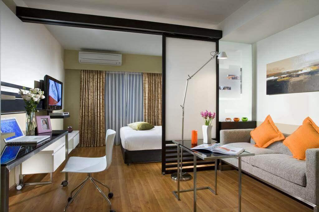 Разделение спальни на зоны