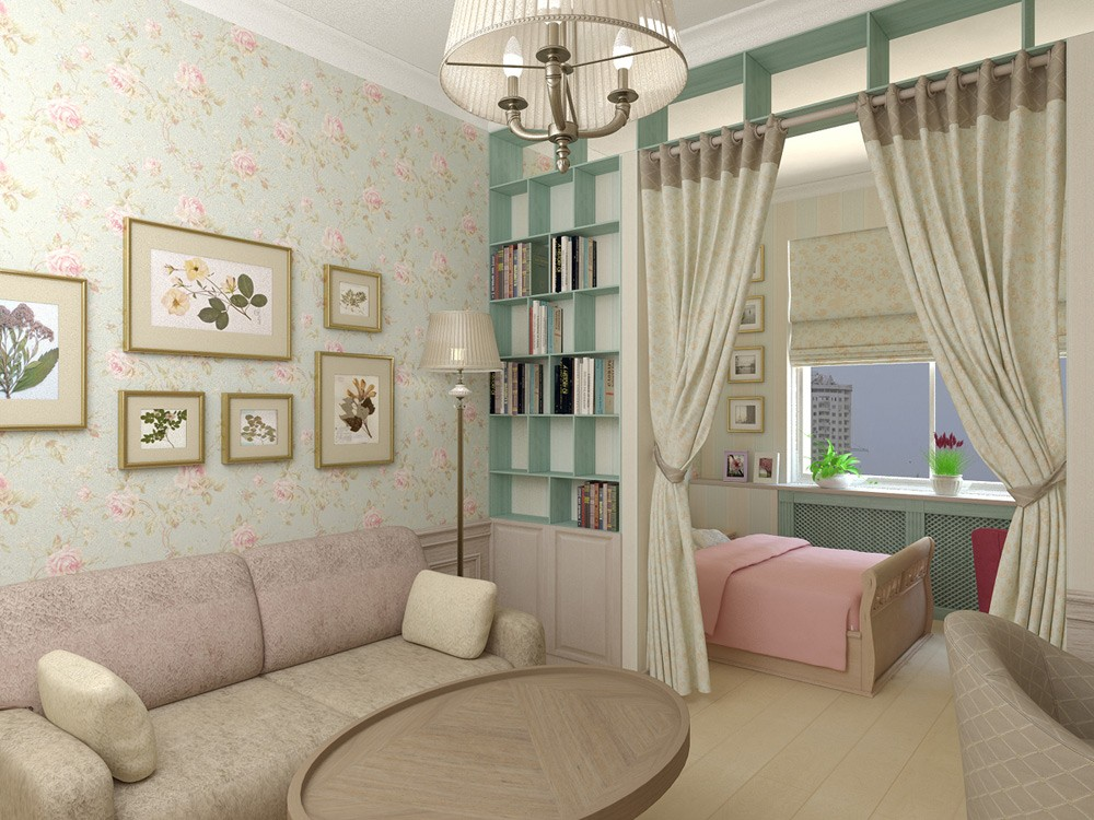 Разделение комнаты на спальню и детскую