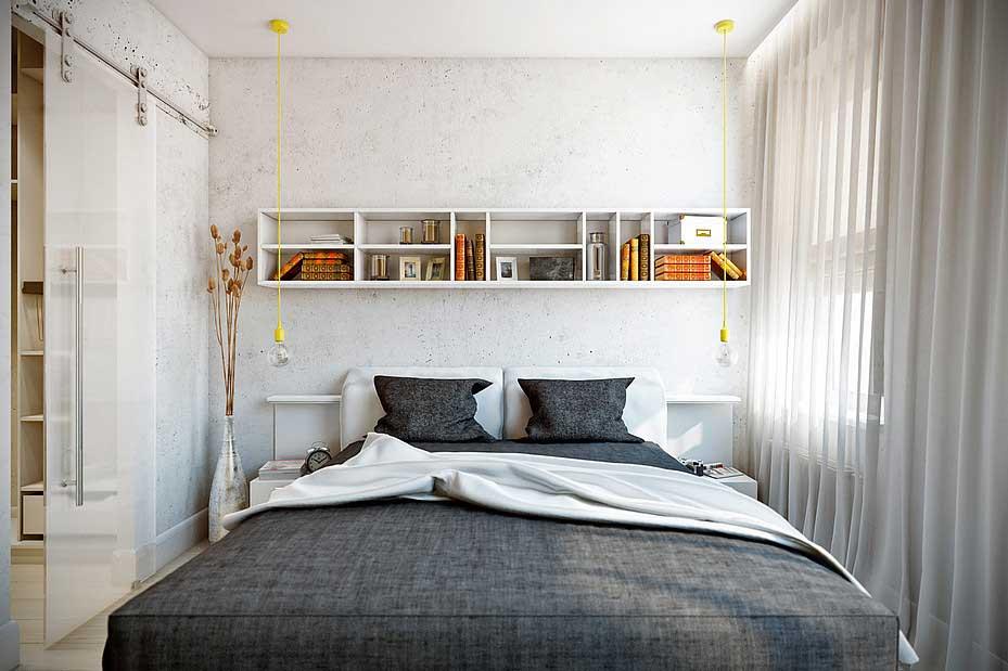 Светлая маленькая спальня