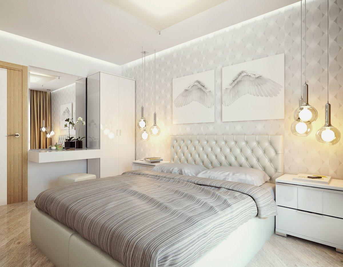 Светлые тона в спальне