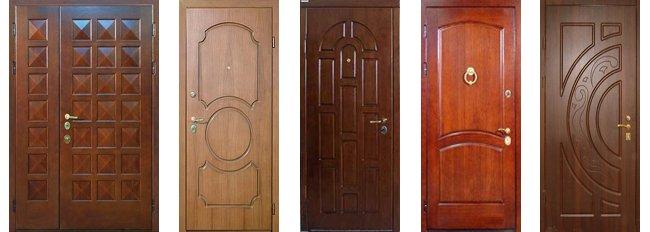 Варианты отделки входных дверей