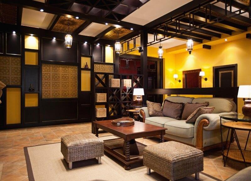 Этнический стиль в гостиной
