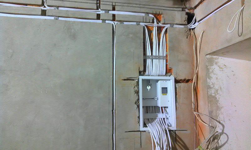 Монтаж электропроводки в новостройке