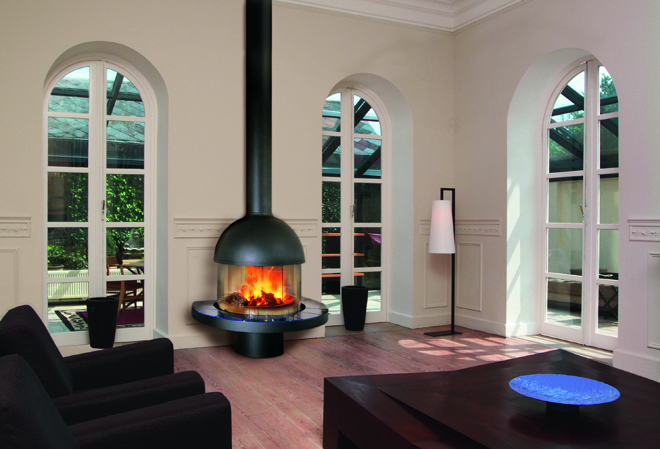 Газовый камин в гостиной