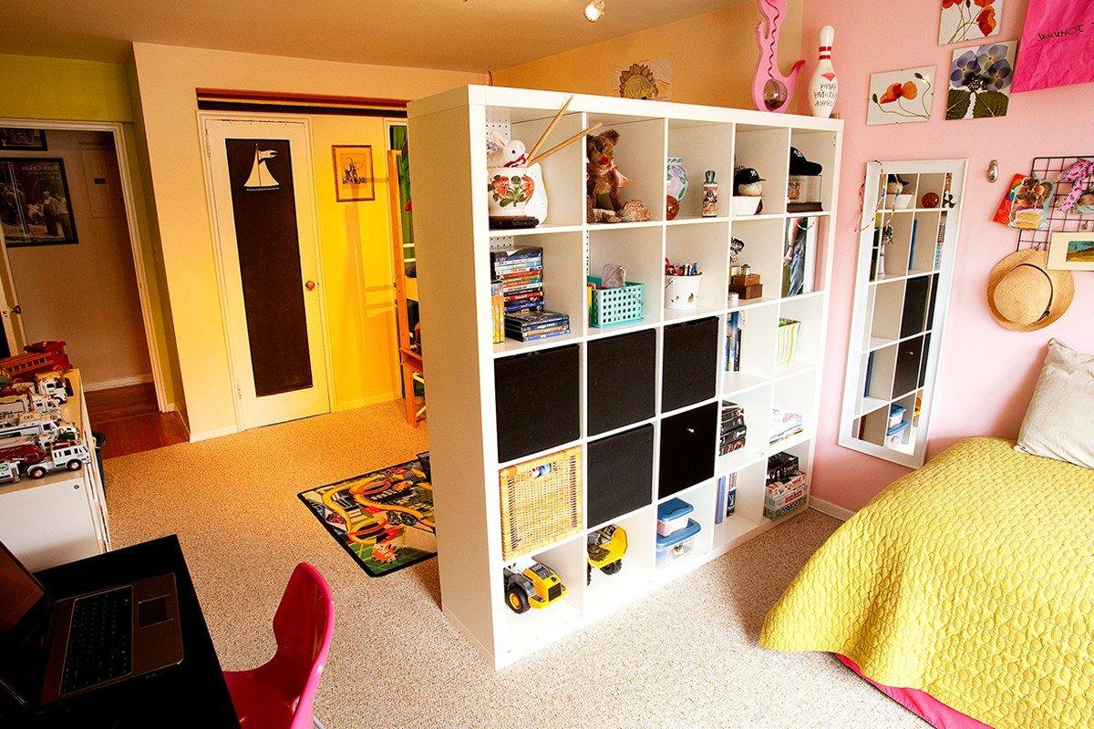 Перегородка в детской комнате