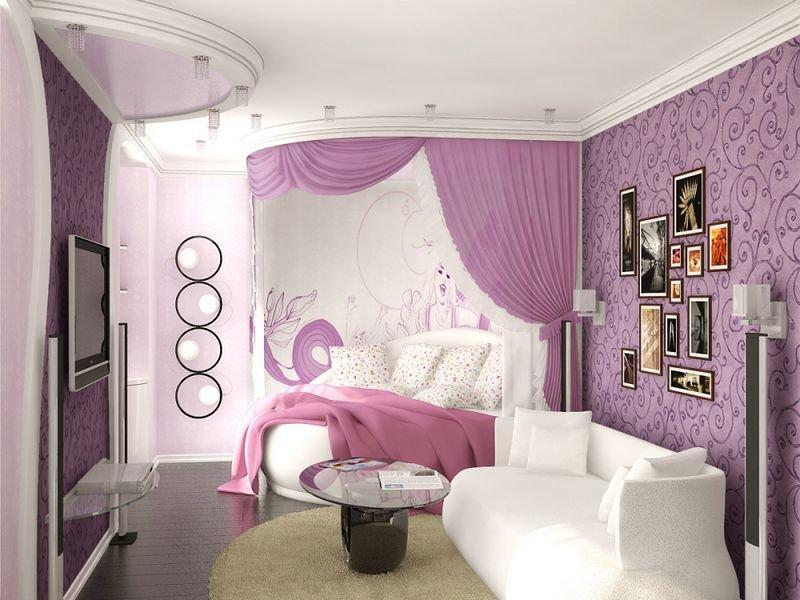 Зонирование комнаты девочки