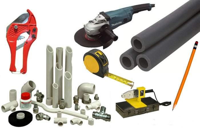Оборудование и инструменты для установки полотенцесушителя