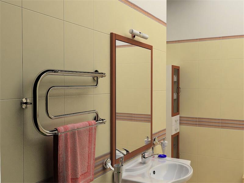 Правильная установка полотенцесушителя в ванной
