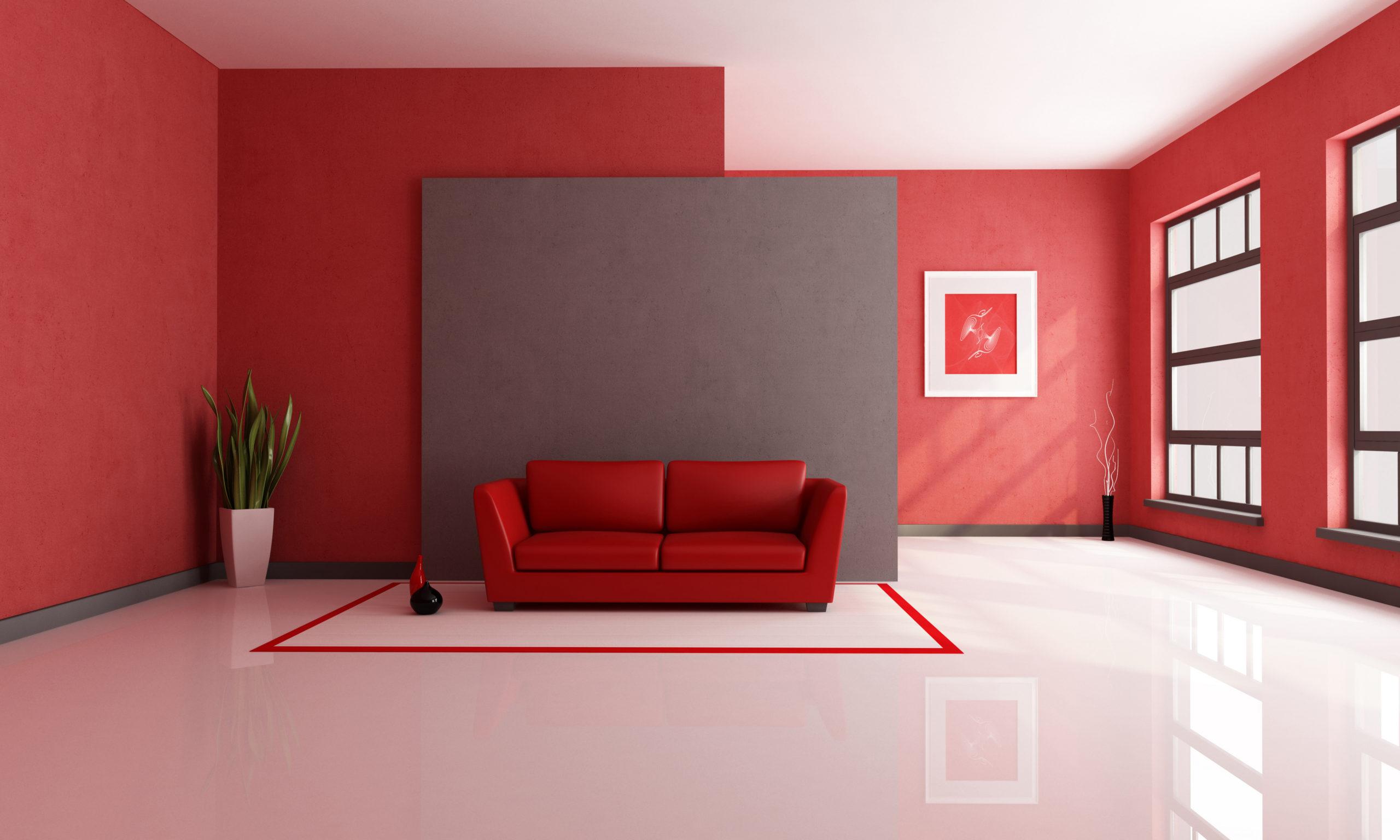 Окрашеные стены в квартире