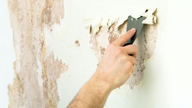 Зачистка стен от старого покрытия