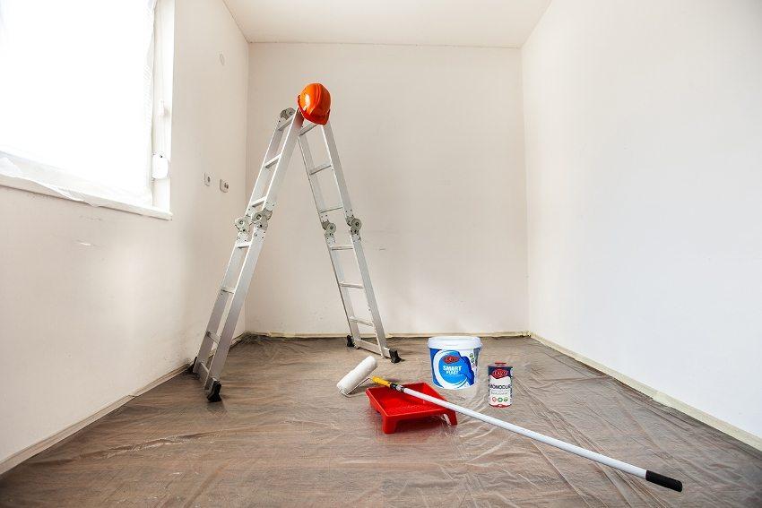 Покраска стен в квартире