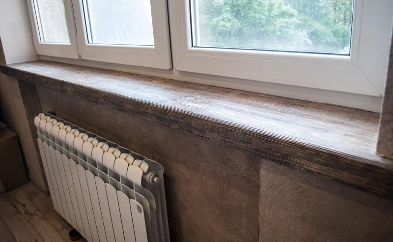 Деревянный подоконник на пластиковые окна