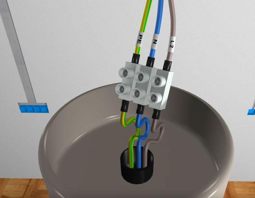 Маркировка проводов для люстры