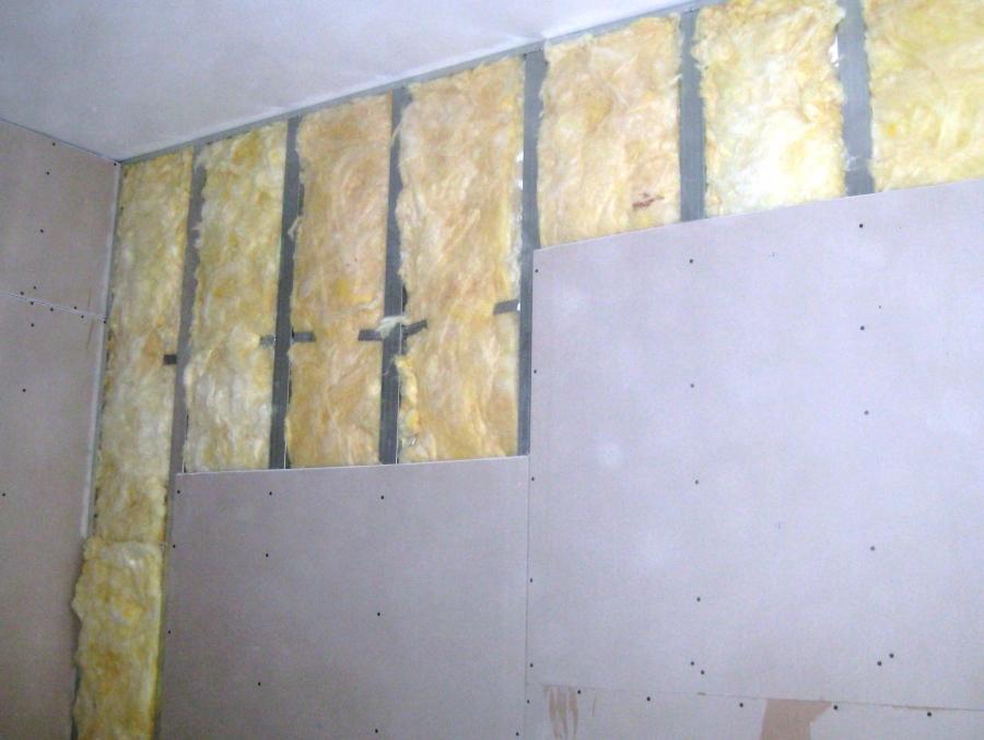 Отделка звукоизолированных стен гипсокартоном