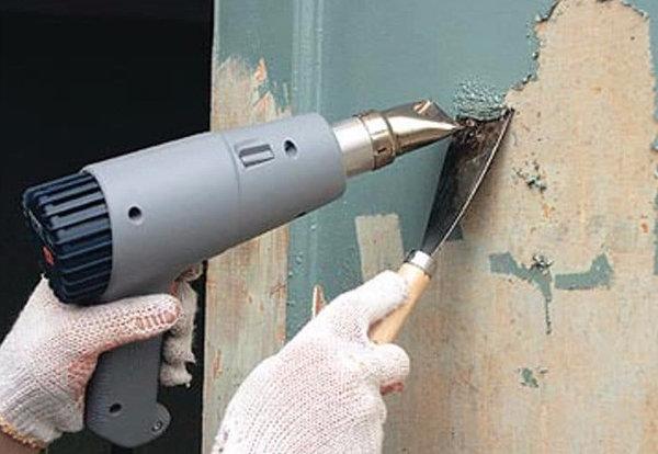 Удаление краски со стен
