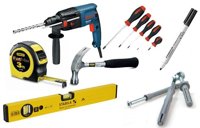 Инструменты для установки душевой кабины