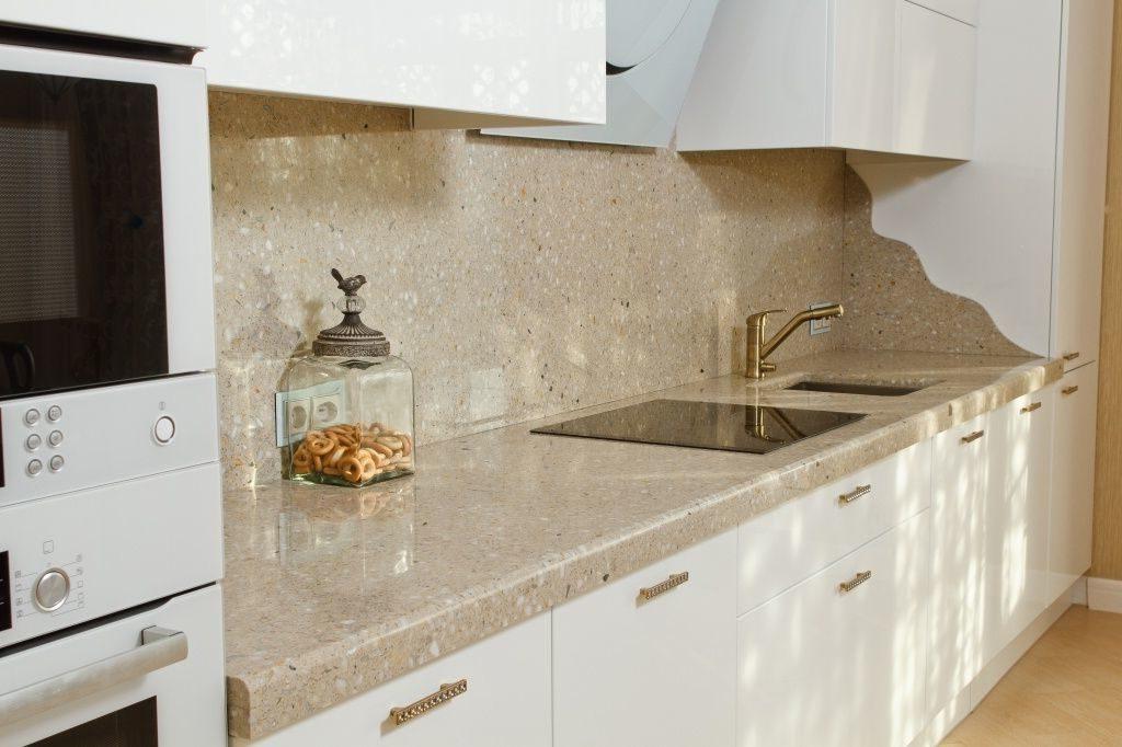 Фартук для кухни из искусственного камня Фартук из искусственного камня
