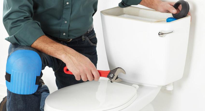 Как установить напольный унитаз
