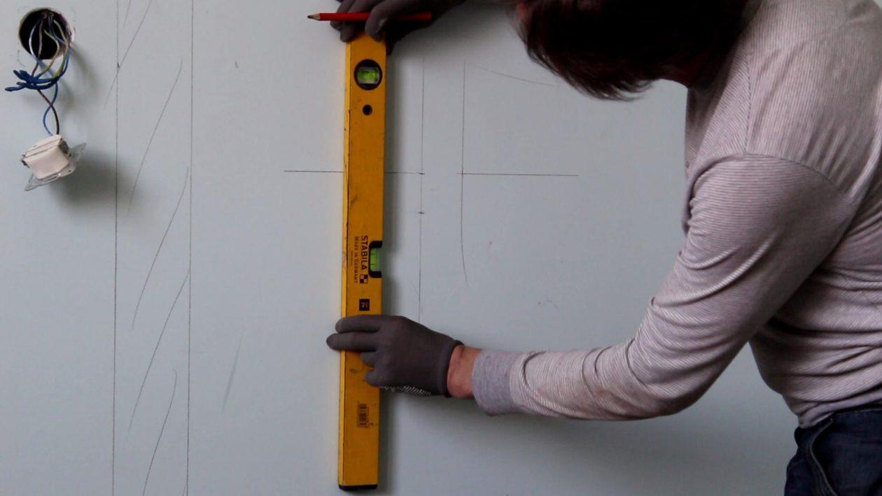 Разметка стен под обрешетку