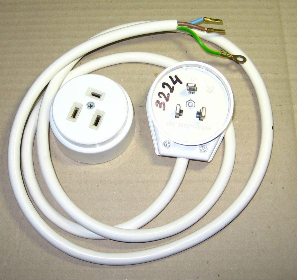 Розетка и вилка для электроплиты